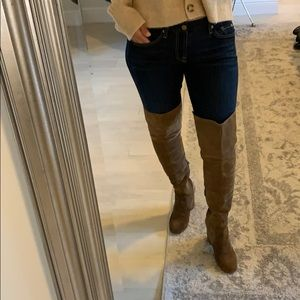 Via Spiga suede over the knee boots